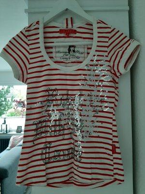 10 FEET T-shirt blanc-rouge brique