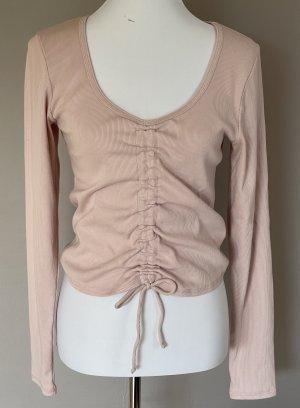 Abercrombie & Fitch Geribd shirt stoffig roze