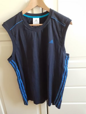 Adidas Débardeur de sport bleu