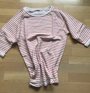 armedangels Stripe Shirt white-brick red cotton
