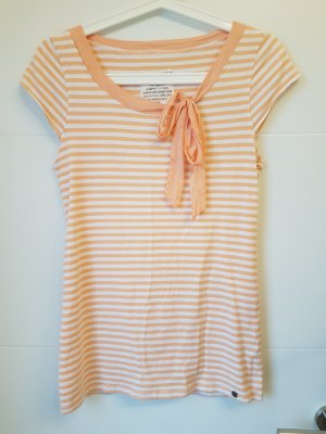 armedangels T-shirt rayé blanc-abricot