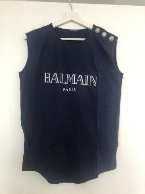 Balmain T-shirt imprimé bleu foncé
