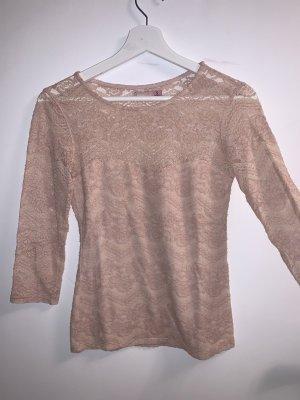 Bershka Blusa in merletto color oro rosa