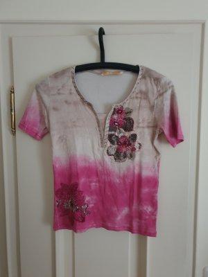 Biba Maglia batik grigio chiaro-rosa