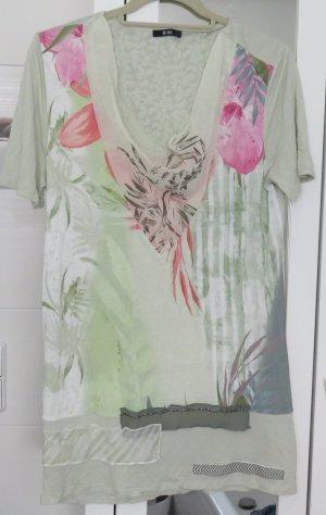 Biba Print Shirt pale green-light pink