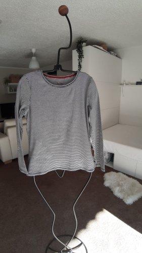 Boden Stripe Shirt natural white-dark blue cotton