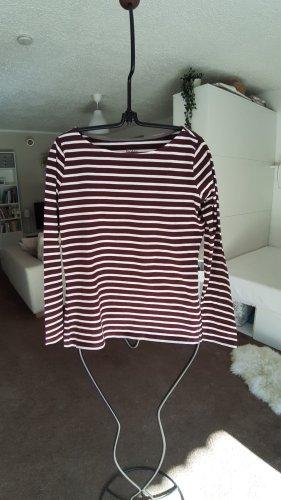 Boden Stripe Shirt natural white-purple cotton