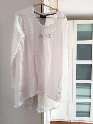 Shirt von Bogner, weiss/gold, Gr. S