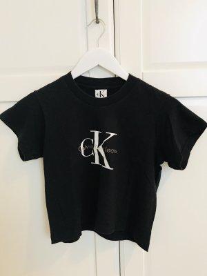 Calvin Klein Jeans Cropped Shirt black
