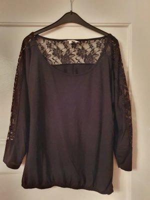 Clockhouse Boatneck Shirt black viscose