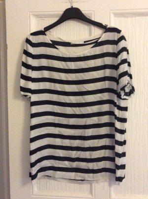 COS Stripe Shirt white-dark blue