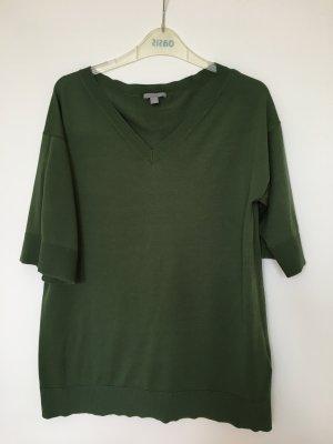 COS T-shirt col en V vert forêt