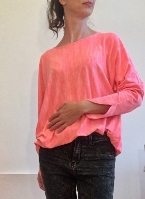 COS Camicia oversize rosa-bianco