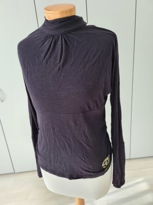 eckored Camisa de cuello de tortuga negro