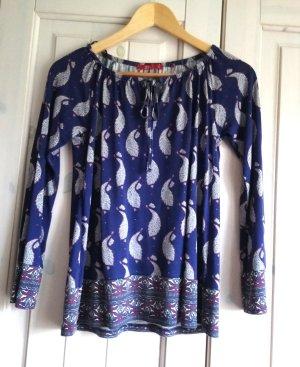 edc by Esprit Boatneck Shirt carmine-dark blue