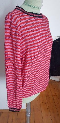 Emily van den Bergh Maglia scollo a barca rosso chiaro-fucsia neon