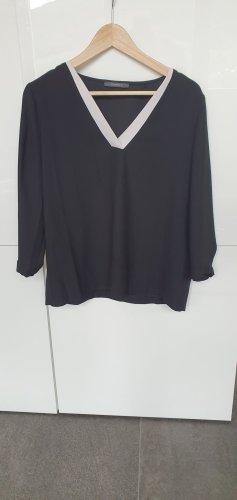 Esprit Camisa con cuello V blanco-negro
