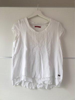 edc by Esprit Camisa con cuello V blanco