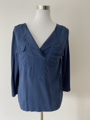 Gerard darel Basic Shirt dark blue cotton