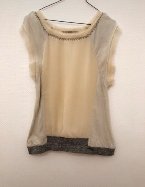 Guess T-shirt crema-grigio chiaro