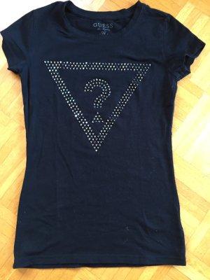 Guess T-shirt nero-grigio chiaro Cotone