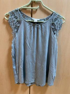 H&M Crochet Shirt sage green