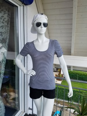 H&M Stripe Shirt white-dark blue