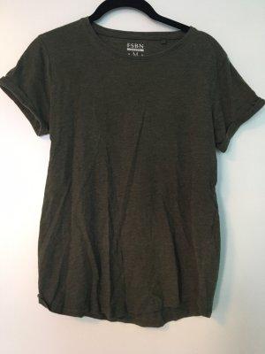 Shirt von H&M in einem dunklem Grün/ olivgrün