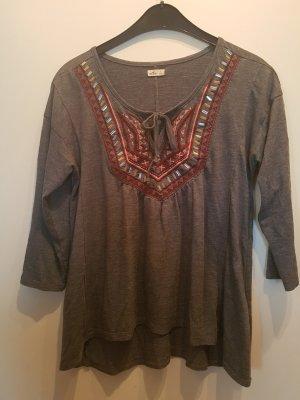 Hollister Koszulka z dekoltem w kształcie litery V szary