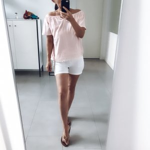 Janina Top épaules dénudées rosé