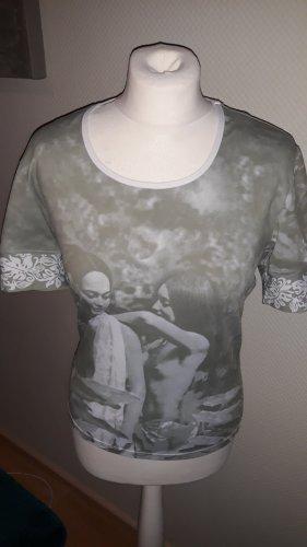 JS Shirt met print room-khaki Gemengd weefsel