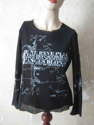 Kathleen Madden Siateczkowa koszulka czarny-biały Poliamid