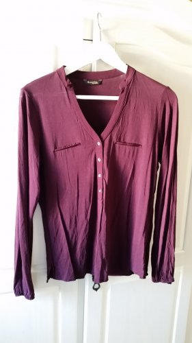 Massimo Dutti V-hals shirt braambesrood
