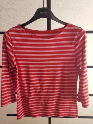 munich freedom Stripe Shirt brick red-neon pink