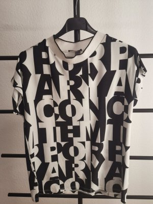 munich freedom Print Shirt white-black