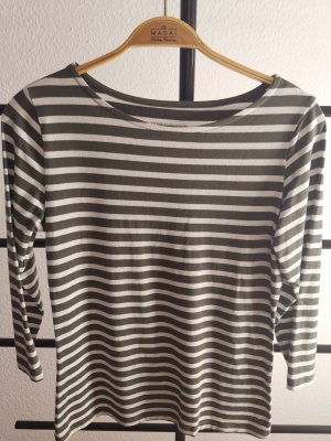 munich freedom Stripe Shirt white-dark grey