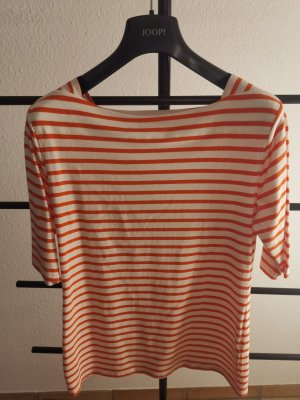 munich freedom Stripe Shirt white-orange