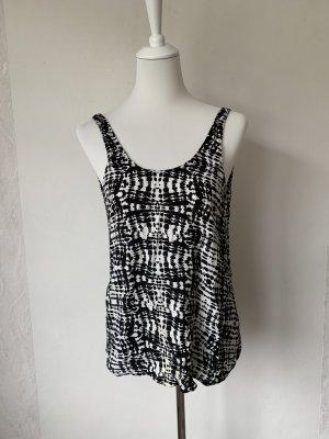 Pieces Blusa sin espalda negro-blanco