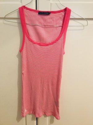 Polo Ralph Lauren Geribd shirt wit-roze
