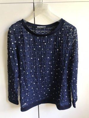 Promod Camisa de malla azul oscuro