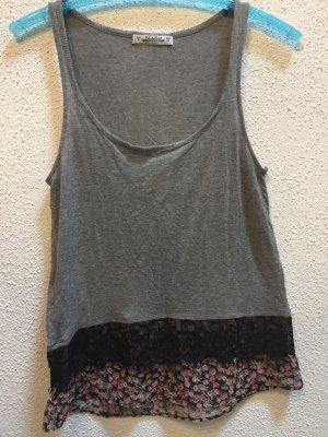 Pull & Bear Muscle Shirt grey-black