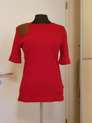 Lauren by Ralph Lauren Camisa acanalada rojo Algodón