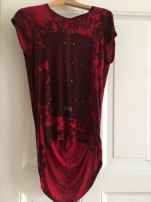 Religion Cowl-Neck Shirt dark red-black
