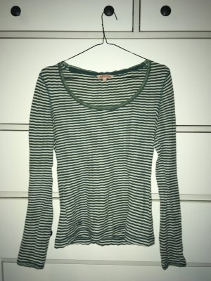 Review Stripe Shirt natural white-forest green