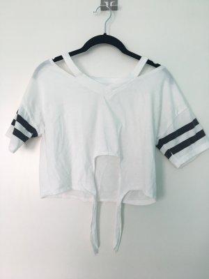 Shirt von Shein mit Streifen (bauchfrei)