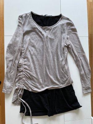 Tigha Camicia lunga nero-crema
