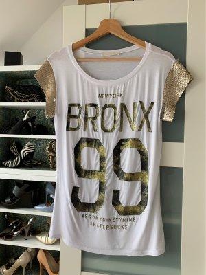 Shirt von vicolo mit goldschrift gr 36/38