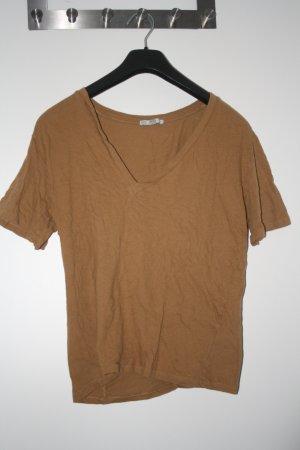 Shirt von Zara Beige braun Basic