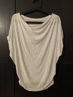 Shirt Wasserfallkragen weiß