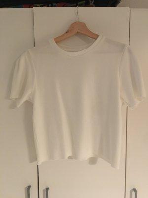 Bershka Ribbed Shirt white